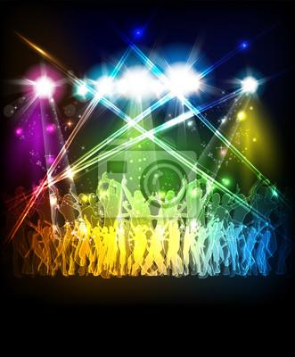 Abstract background sound strona z tańczących ludzi