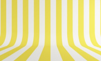 Abstract background with yellow and white line. Backdrop design for product promotion. 3d rendering