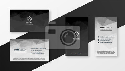 abstract black and white business card template