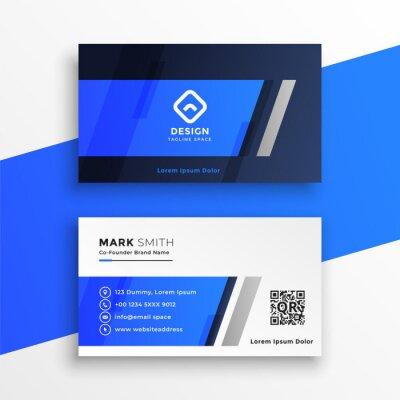 abstract blue business card desigm