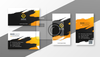 abstract creative business card design