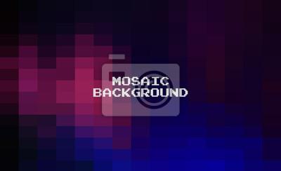 Naklejka Abstract Dark Black geometric Background, Creative Design Templates. Pixel art Grid Mosaic, 8 bit vector background.