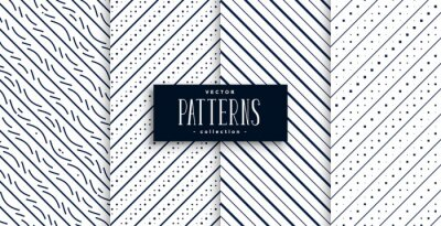 abstract diagonal lines classic patterns set of four