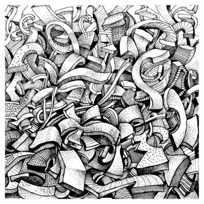 Naklejka Abstract doodles