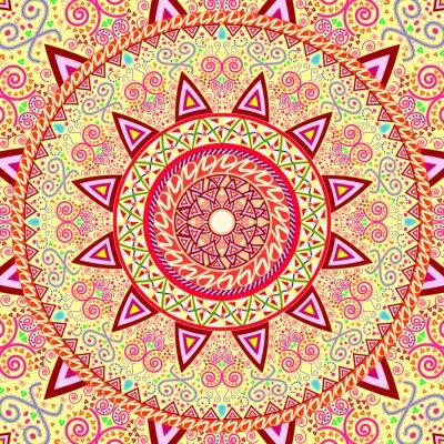 Naklejka Abstract Ethnic Ornate Background For Design