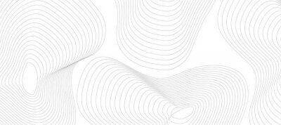 Naklejka Abstract gray background with lines. Minimal topographic line contour map style. Modern wavy geographic grid map style. Eps 10 Vector