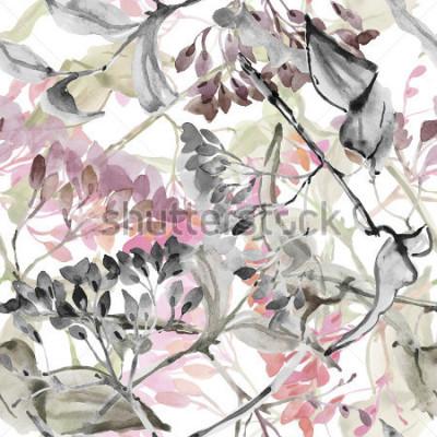 Naklejka Abstract kwiaty. Akwarela wykorzystania wzoru.