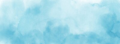 Naklejka Abstract light blue watercolor for background