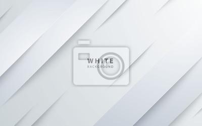 Naklejka Abstract light silver background vector. Modern diagonal white background.