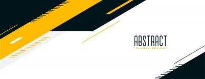 Naklejka abstract memphis wide geometric banner design