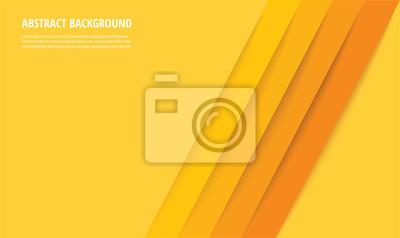 Naklejka abstract modern yellow lines background vector illustration EPS10