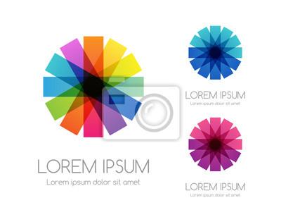 Naklejka Abstract rainbow color logo. Colorful vector emblem.