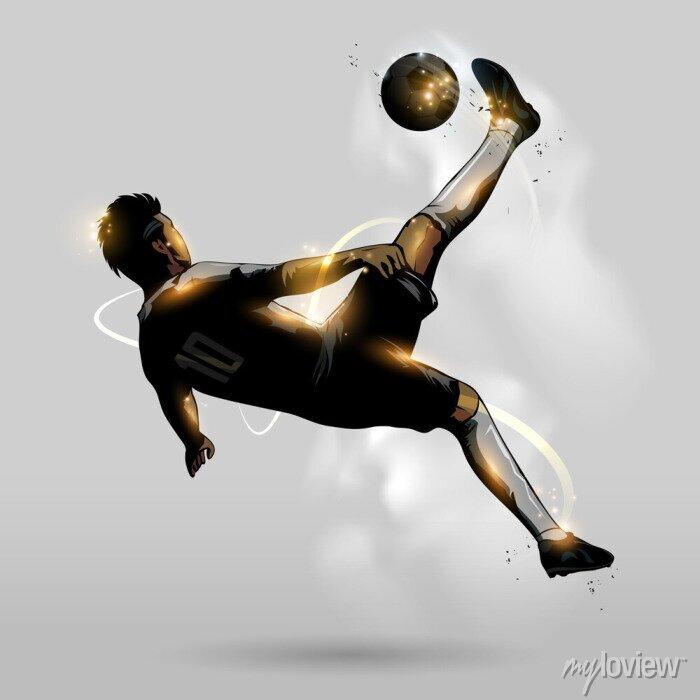 Naklejka abstract soccer overhead kick