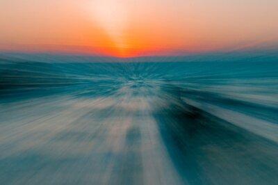 Naklejka Abstract Sunset Over Sea