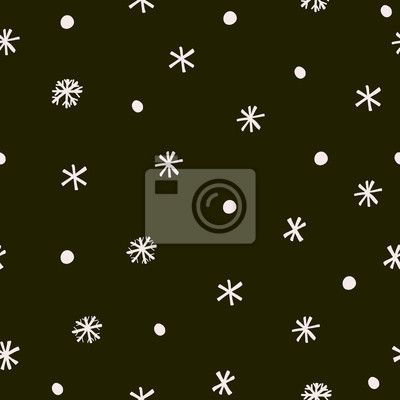 Abstract trendy christmas new year winter holiday seamless pattern with xmas snowflakes