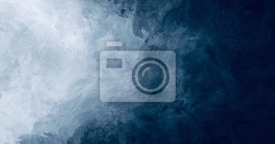 Naklejka Abstract watercolor paint background dark blue color grunge  texture for background, banner