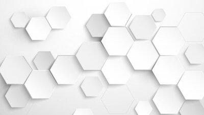 Naklejka Abstract white hexagon background. Vector Illustration