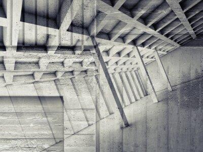Naklejka Abstract wnętrze z pustym pokoju i betonu