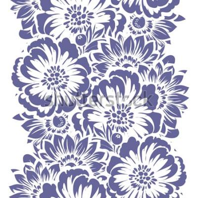 Naklejka Abstrakcjonistycznej eleganci bezszwowy wzór z kwiecistym tłem