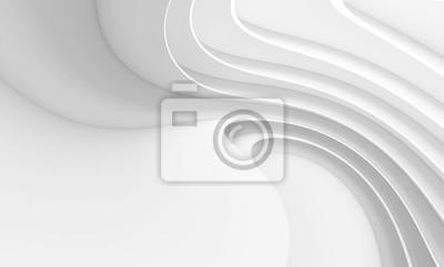 Naklejka Abstrakcjonistyczny architektury tło. Biały okrągły budynek