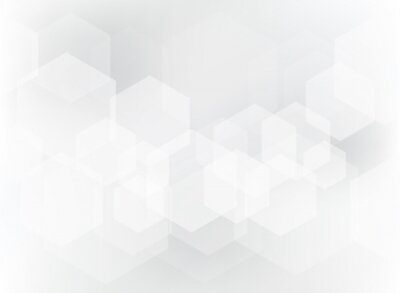 Naklejka Abstrakcjonistyczny geometryczny sześciokąt narzuty wzór na białym i szarym tle.