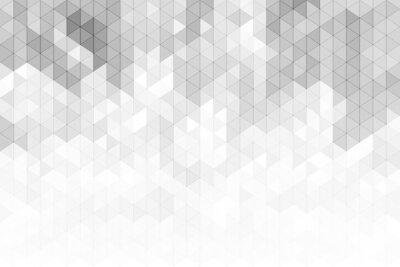 Naklejka Abstrakcjonistyczny geometryczny tło z szarymi i białymi koloru brzmienia trójbokiem kształtuje.