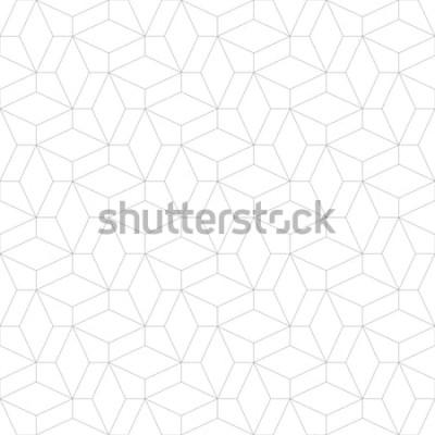 Naklejka Abstrakcjonistyczny geometryczny wzór z krzyżować cienkie linie. Stylowa tekstura w kolorze szarym. Bezproblemowa liniowy wzór.