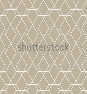 Naklejka Abstrakcjonistyczny geometryczny wzór z liniami. Bezszwowe tło wektor Nowoczesny wzór graficzny.