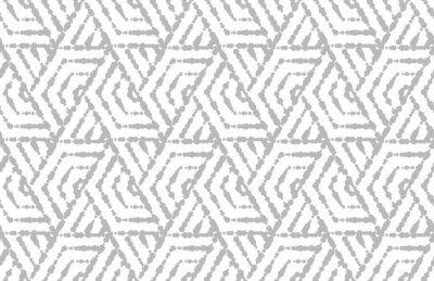 Naklejka Abstrakcjonistyczny geometryczny wzór z paskami, linie. Bezszwowe tło wektor. Biały i szary ornament. Prosty projekt graficzny kraty.