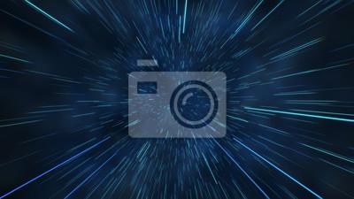 Naklejka Abstrakcjonistyczny lot w astronautycznej hyperskap 3d ilustraci