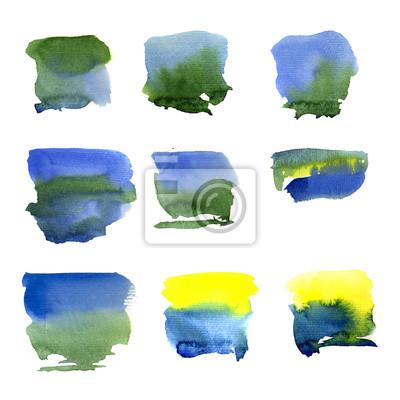 Abstrakcyjna Akwarele sztuki malowania ręcznie samodzielnie na białym tle