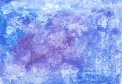 Abstrakcyjna Akwarele tekstury na tle w odcieniach niebieskiego.