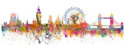 Naklejka Abstrakcyjna ilustracji Londyn skyline