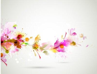Abstrakcyjna tła z gałęzi kwiatowy