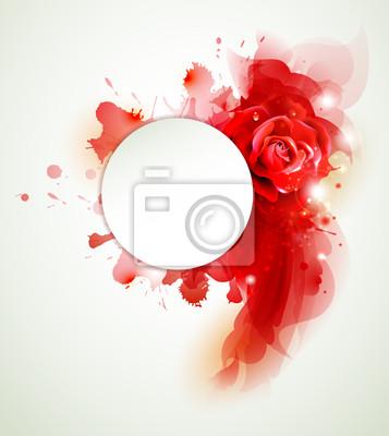 Abstrakcyjna tła z róż i czerwonych elementów