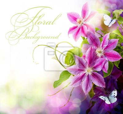 Abstrakcyjna wiosny kwiatu tła dla projektu