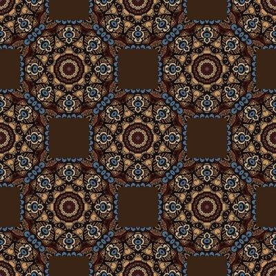 Naklejka abstrakcyjne bez szwu kolorowe etniczne wzór. bezszwowe tło