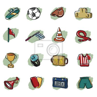 abstrakcyjne ikona piłki nożnej