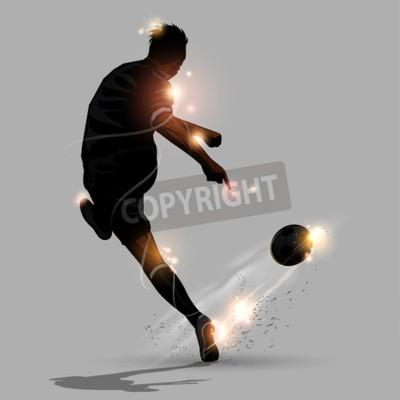abstrakcyjne prędkości nożna strzelanie piłki nożnej