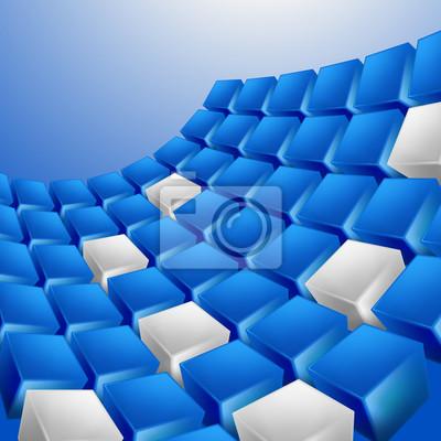 Abstrakcyjne tła z kostki w kolorze niebieskim stonowanych. Vector.