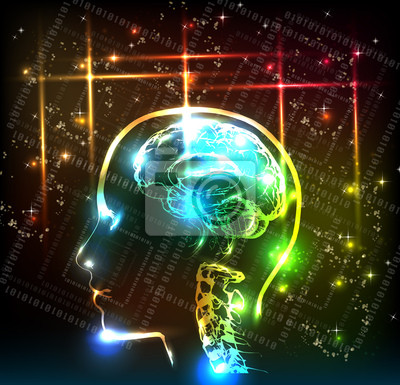 abstrakcyjne tło projektu mózg ludzki
