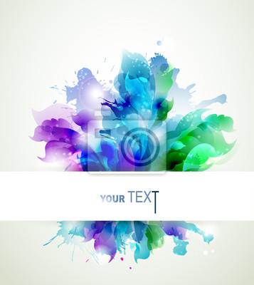 Abstrakcyjne tło z elementami niebieskim, różowym i zielonym
