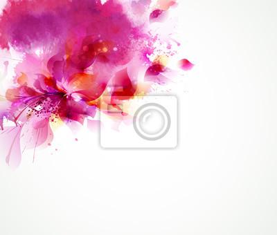 Abstrakcyjne tło z kwiatów i elementów