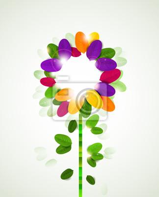 abstrakcyjne tło z liści kwiatów tworzą