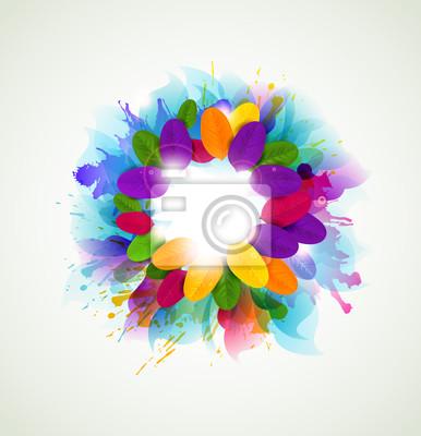 abstrakcyjne tło z liści kwiatów, utworzonej przez