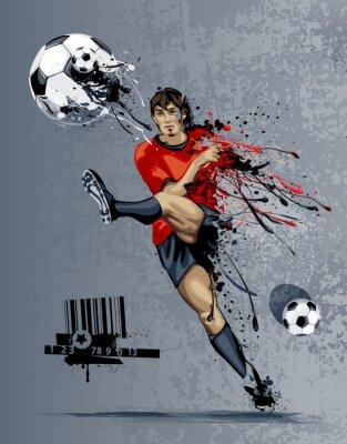Abstrakcyjny obraz piłkarz