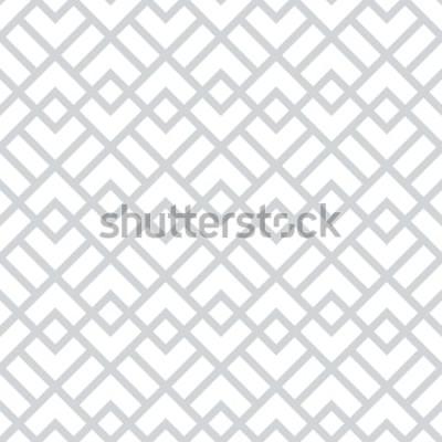 Naklejka Abstrakcyjny wzór geometryczny z kwadratów, rombów. Bezszwowe tło wektor Szaro-biały wzór graficzny.
