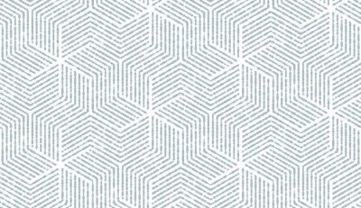 Naklejka Abstrakcyjny wzór geometryczny z paskami, linie. Bezszwowe tło wektor. Biało-niebieski ornament. Prosta grafika kratowa