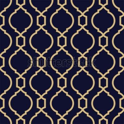 Naklejka Abstrakcyjny wzór w stylu arabskim. Bezszwowe tło geometryczne.