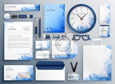 abstrakcyjny zestaw zabezpieczeń niebieski firmy